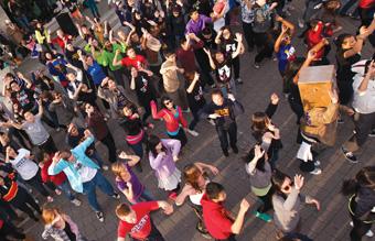 [students dancing]