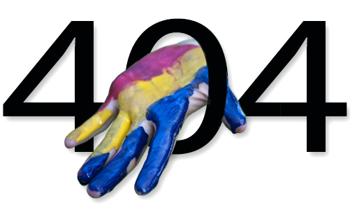 [404 numbers with tricolour hand]