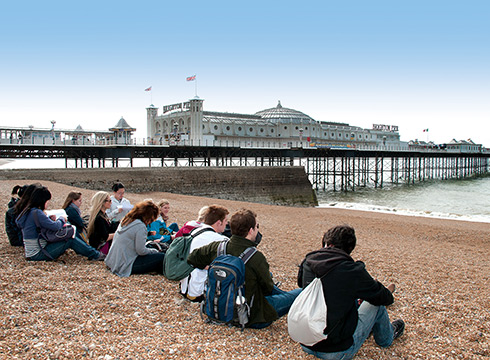 [BISC students at Brighton Beach]