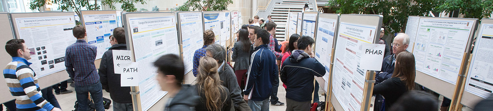 [poster presentation in Biosciences atrium]