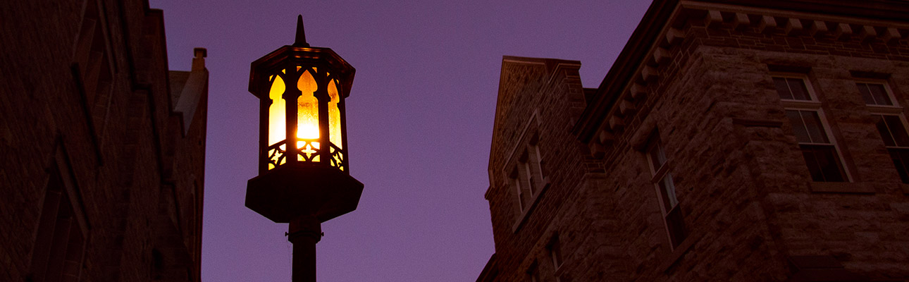 [campus at night]