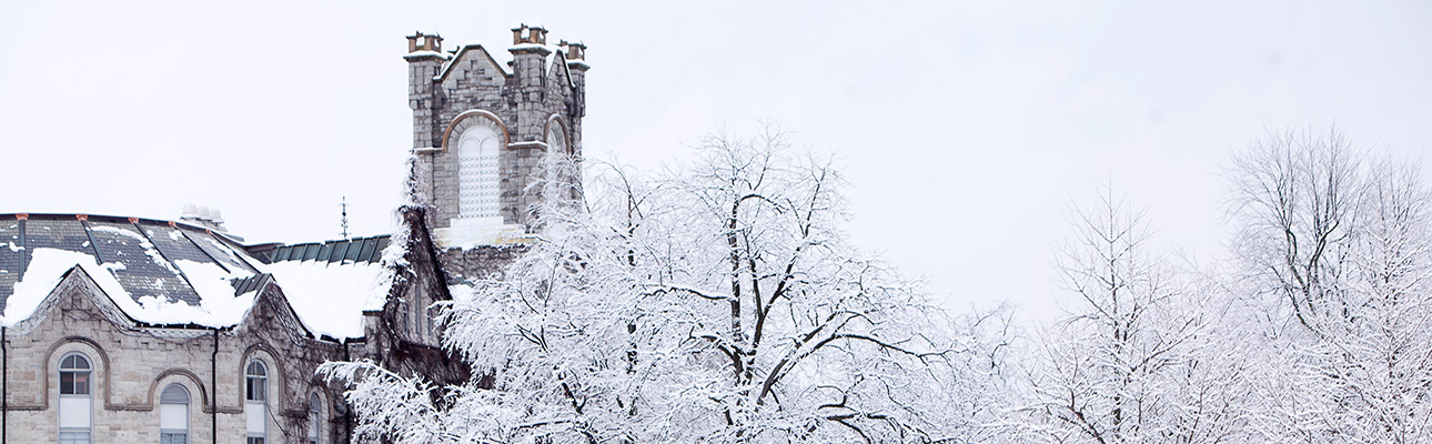 [Theological Hall in winter]