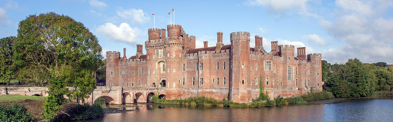 [exterior of Herstmonceux Castle]