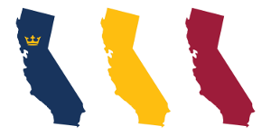 Map of the state of California