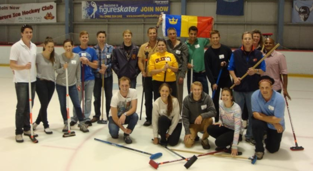 Alumni curling in Sydeny
