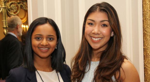 Young alumni at award event