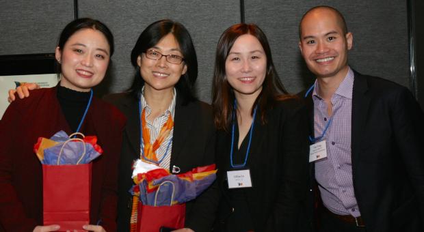 Alumni at event