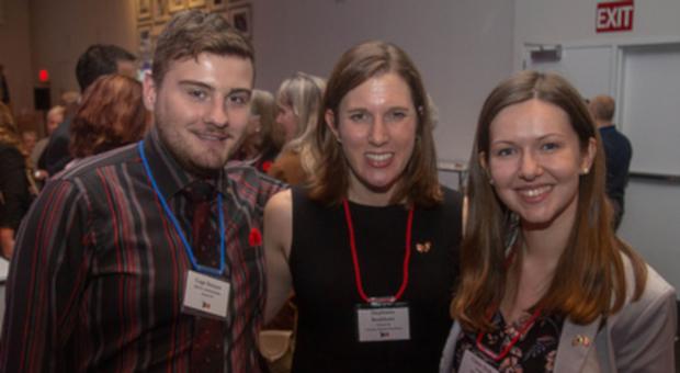 Alumni at award reception