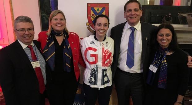 Alumni with Principal Woolf