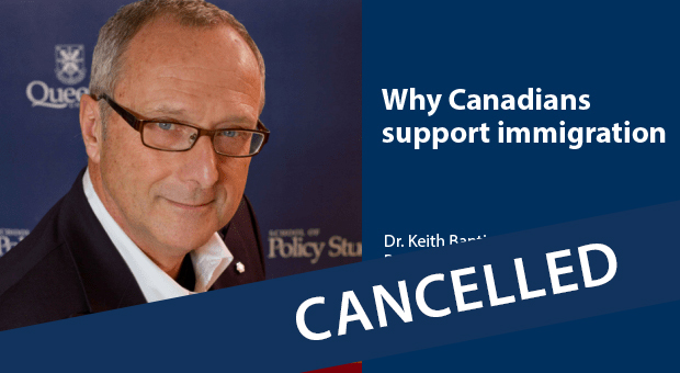 Dr. Keith Banting - event cancelled