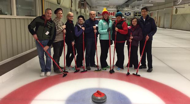 Boston Branch members curling