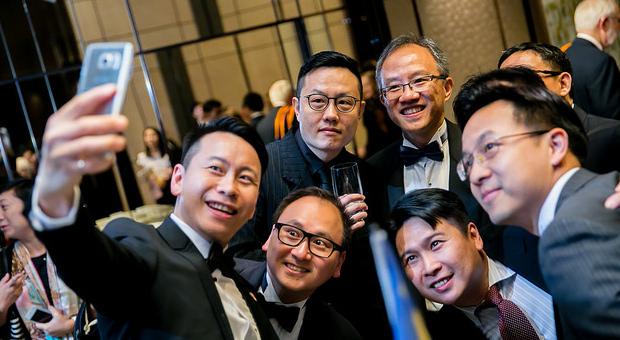 Hong Kong Branch alumni taking a selfie