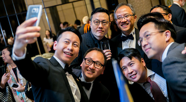 Hong Kong Branch alumni taking a selfie