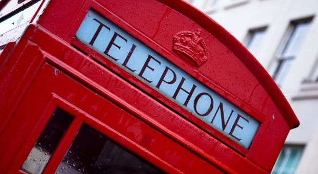 London, UK telephone booth