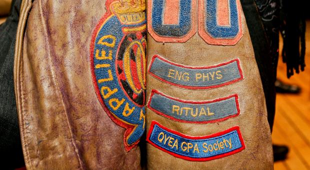 Queen's engineering jacket with bars