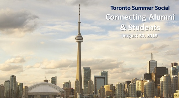 Toronto Summer Social Connecting Alumni and Students August 20, 2019