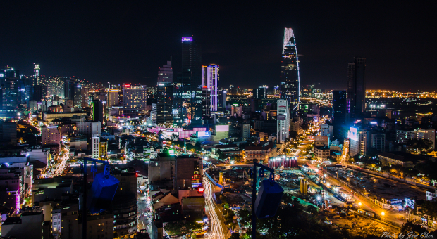 Ho Chi Minh City Skyline at night