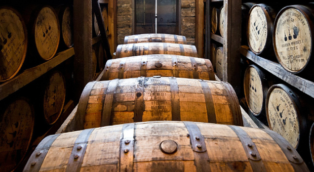 Scotch aging in barrels