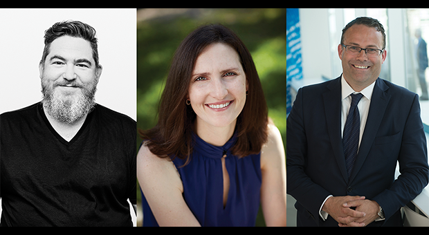 Panelists Chuck Rifici, Vanessa Gruben, and David Sharpe