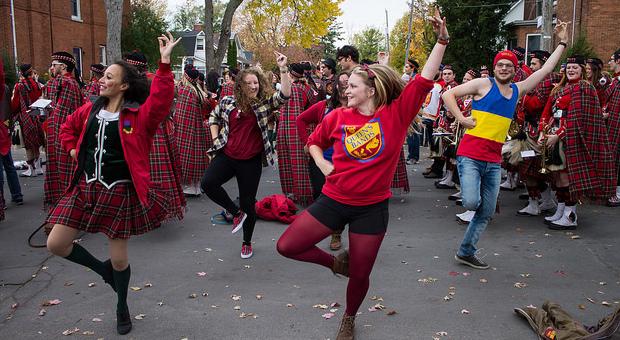 Student Highland Dancing. Photo taken by Alamjeet Chauhan