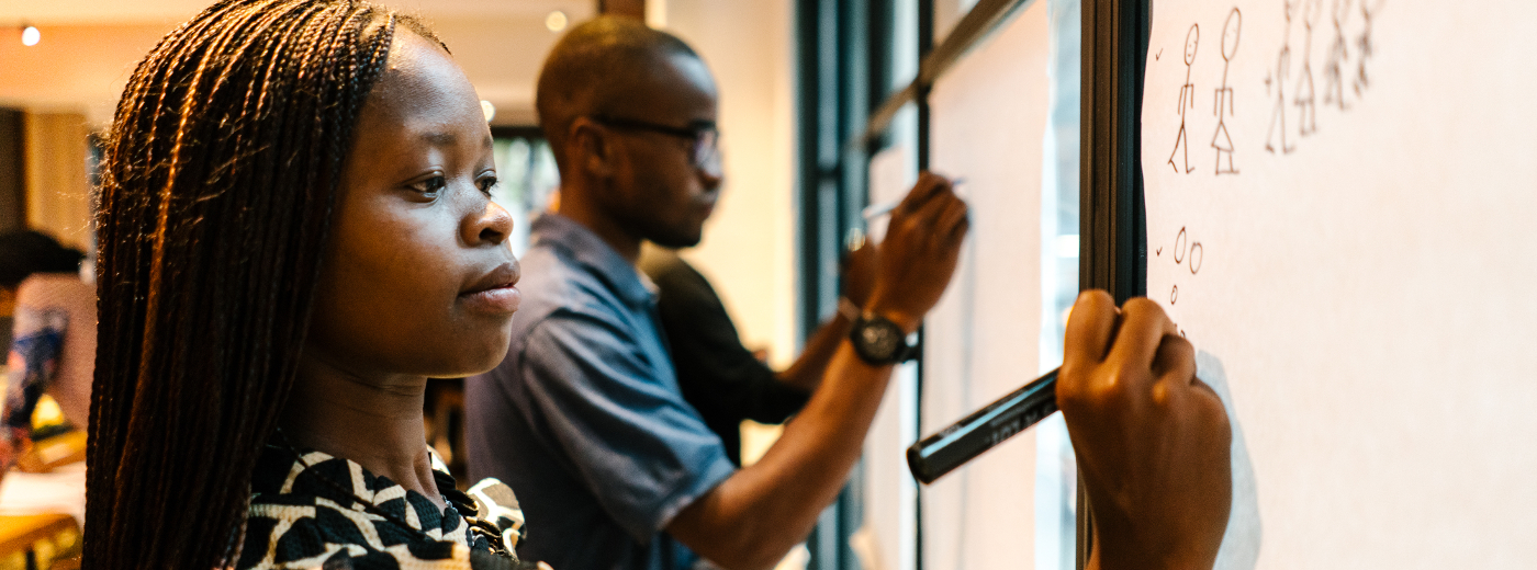 students enrolled in The MasterCard Foundation Scholars Program attend a bootcamp in New York City for those studying in North A