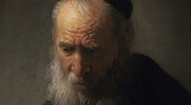 [Rembrandt van Rijn's 'Head of an Old Man in a Cap' (detail) from the exhibition Leiden circa 1630: Rembrandt Emerges]