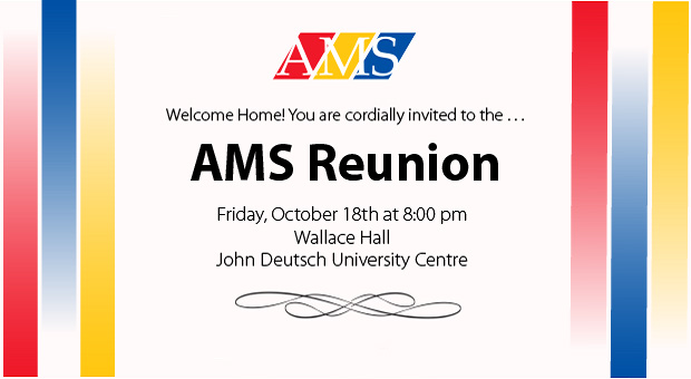[AMS Reunion - Wallace Hall, JDUC on Friday, Oct. 18 at 8:00 pm]