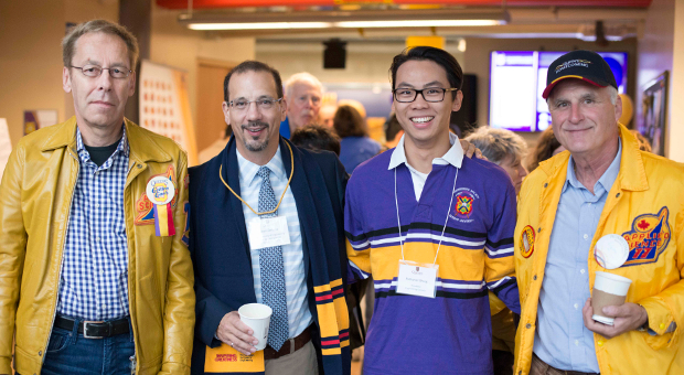 [Dean Kevin Deluzio with Engineering and Applied Science alumni]