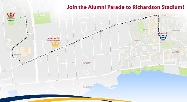 [Alumni Parade Route]
