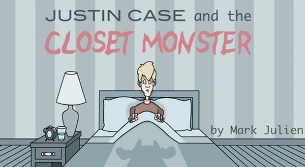 justin case and the closet monster book cover