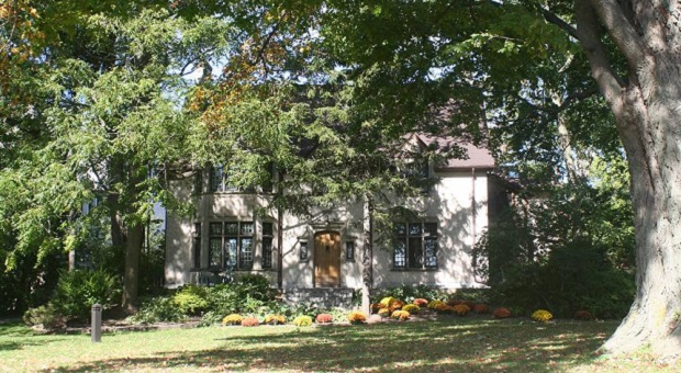 [The University Club Building in fall]