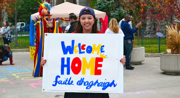 "[""Welcome Home"" - Photo by Meaghan Armstrong, Artsci'18]"