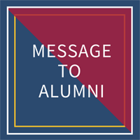 message to alumni button