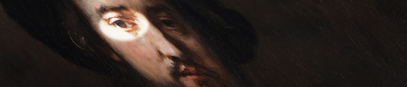 Closeup of Rembrandt's Man with Arms