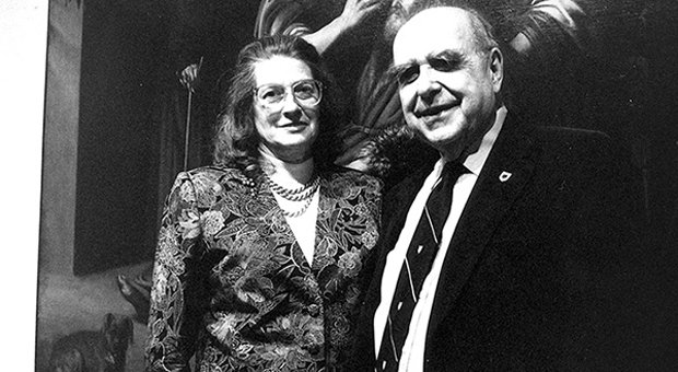 Alfred and Isabel at the Agnes in 1991.