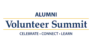 Alumni Volunteer Summit logo - Celebrate, Connect, Learn