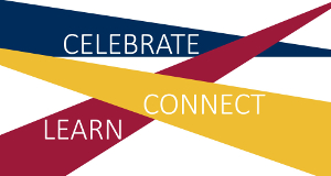 Alumni Volunteer Summit Logo - Celebrate, Connect & Learn