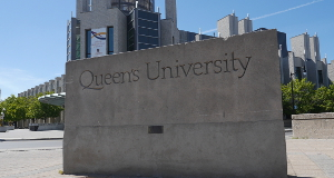 Queen's University concrete sign