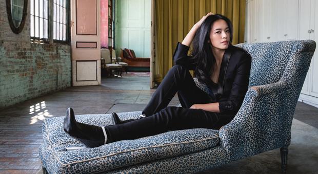 actress YaoChen reclining in photo by justin wu