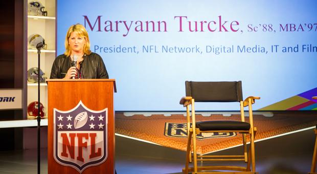 mary ann turke at podium