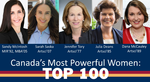 Queen's Alumni on Canada's 100 Most Powerful Women List