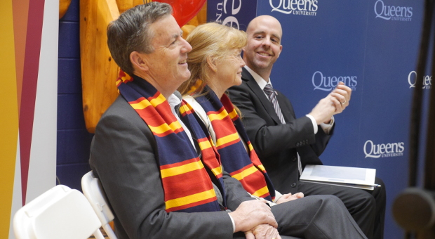 Ross Beaty, Trisha Beaty and Provost Benoit-Antoine Bacon