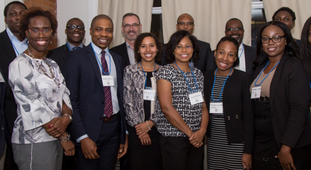 Group photo of Black Law Students' Association Toronto event