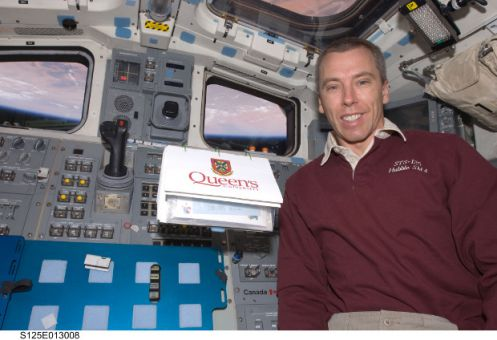 Dr. Andrew Feustel in space