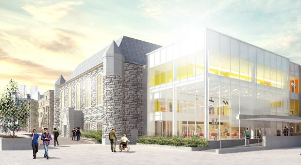 Exterior of new Innovation and Wellness Centre