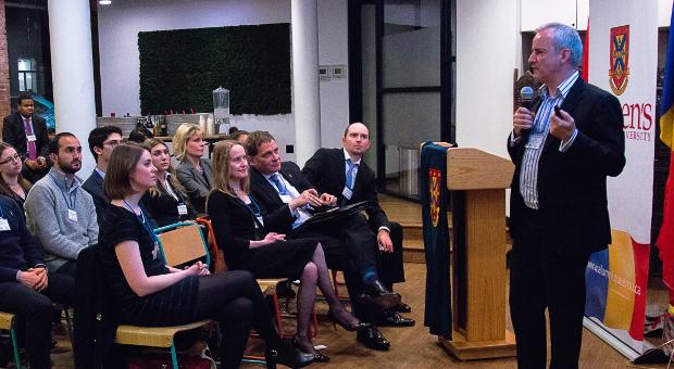 Greg Bavington speaking at UK Alumni Event