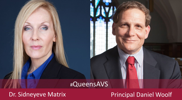 [Dr. Sidneyeve Matrix and Principal Daniel Woolf]