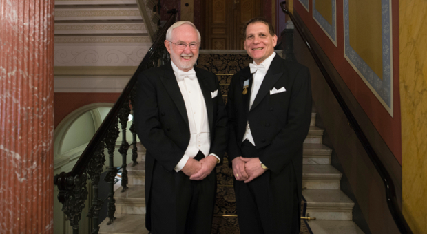 Prof. Art McDonald with Principal Daniel Woolf