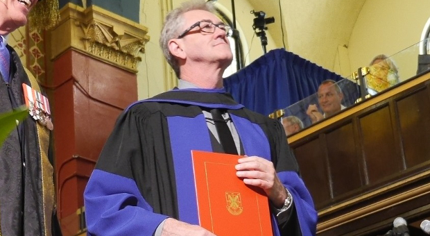 [Piers Handling receives his Queen's honorary degree]