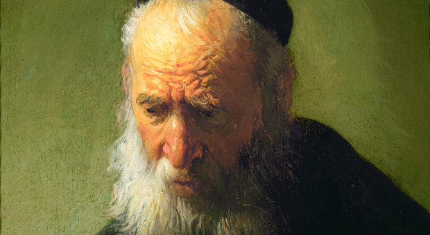 Rembrandt's Head of an Old Man in a Cap.